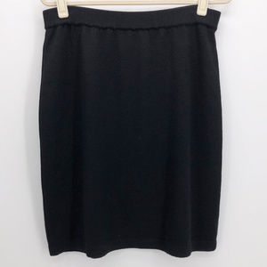 ST JOHN | Santana Knit Black Pencil Skirt